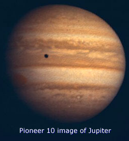 Image result for pioneer 10 close up picture of the planet jupiter